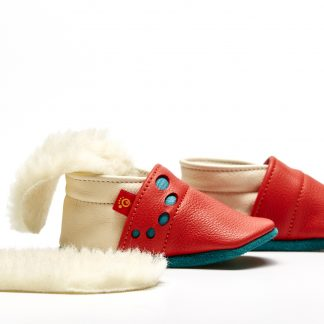 Schuh rot mit Einlage